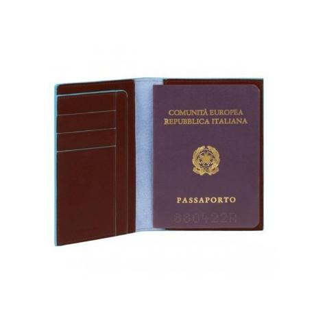 Обложка для паспорта Piquadro Blue Square