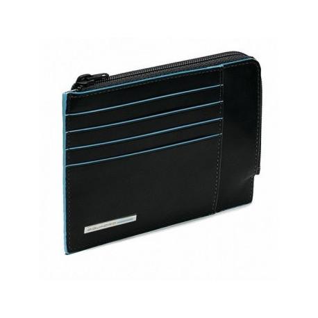 Кредитница Piquadro Blue Square с отдел. на молнии (12,5х14,5)