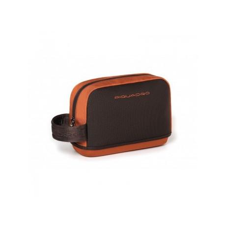 Сумочка Piquadro VOYAGER/Brown-Orange на молнии (23x17x8)