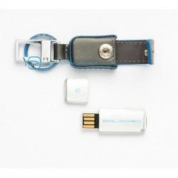 Брелок Piquadro Blue Square 2Gb в коже (9,5х2,3)