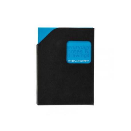 Блокнот Piquadro STATIONERY/Blue A7 (40стр) в кож. чехле (7,5х10,5х0,5)