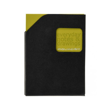 Блокнот Piquadro STATIONERY/Green A7 (40стр) в кож. чехле (7,5х10,5х0,5)
