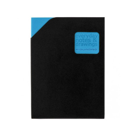 Блокнот Piquadro STATIONERY/Blue A6 (40стр) в кож. чехле (10,5х15х0,5)