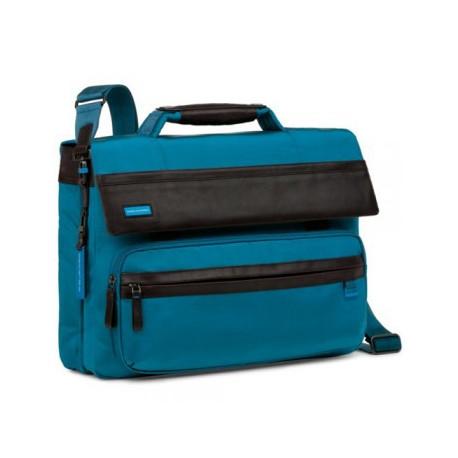 Портфель Piquadro Nimble на 2 отделения с фронтальным карманом и с сумкой для ноутбука