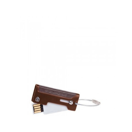 Брелок Piquadro Vibe с USB флешкойо 2Gb в алюм. с кож. вставкой (2x5x0,8)