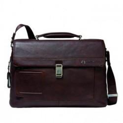 Портфель Piquadro VIBE/D.Brown на 2 отдел. с фронт. карманом и с отдел. д/ноутбука (42x30x13)