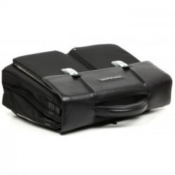 Портфель Piquadro Link чёрный на 2 отделения с 2 фронтальными карманами