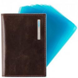 Кредитница коричневая Piquadro Blue Square (7,5х10)