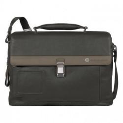 Портфель Piquadro VIBE/Grey-Taupe на 2 отдел. с фронт. карманом и с отдел. д/ноутбука (42x30x13)