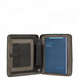 Папка с блокнотом Piquadro VIBE/Grey-Taupe A4 с отдел. д/iPad с 2 ручками (29x34x4)