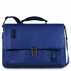 Портфель Piquadro с отдел. д/ноутбука/iPad/iPad Air/iPad mini со сьемным ремнем PULSE/Blue CA3111P15_BLU