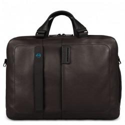 Портфель Piquadro двуручн. с отдел. для ноутбука 15,6/iPad Air/Air2 PULSE/Brown CA3347P15_M
