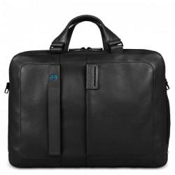 Портфель Piquadro двуручн. с отдел. для ноутбука 15,6/iPad Air/Air2 PULSE/Black CA3347P15_N
