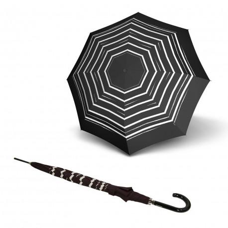 Зонт трость Knirps Stick Automatic Long Stripe Art Black Kn799344961