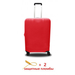 Чехол полиэстер на чемодан L бордо Высота 65-80см Coverbag CvP0206L