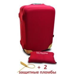 Чехол неопрен на чемодан M бордо Высота 55-65см Coverbag CvM0103R