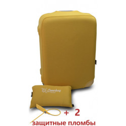 Чехол неопрен на чемодан M желтый Высота 55-65см Coverbag CvM0102E