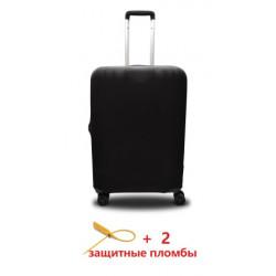 Чехол полиэстер на чемодан M черный Высота 55-65см Coverbag CvP0202M
