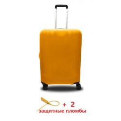 Чехол полиэстер на чемодан S желтый Высота 45-55см Coverbag CvP0210S