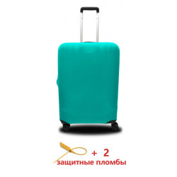 Чехол полиэстер на чемодан L мята Высота 65-80см Coverbag CvP0218L