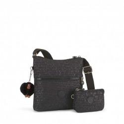 Женская сумка Kipling ZAMOR DUO/Black Scale Emb K14893_19M