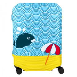 Чехол для чемоданов BG Berlin Hug Cover Light Whale 57-62см M Bg002-02-115-M