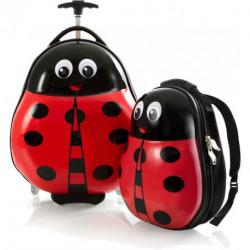 Набор Чемодан на 2 колесах + Рюкзак Heys TRAVEL TOTS/Lady Bug He13030-3087-00